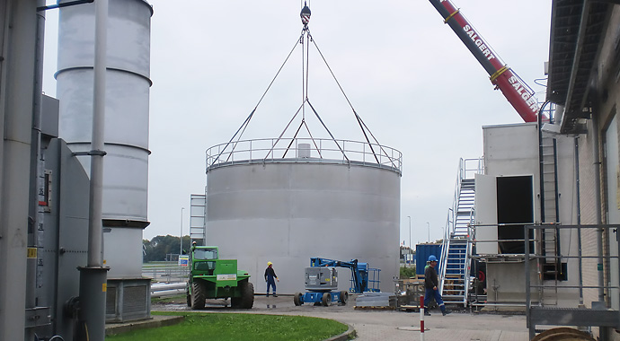 Assembly of Flash Aeration Tank – Edelstahl Jansen
